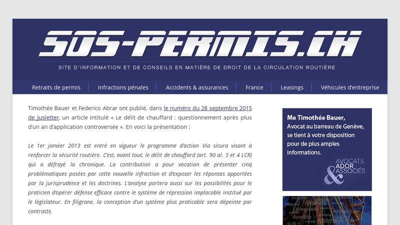 SOS Permis