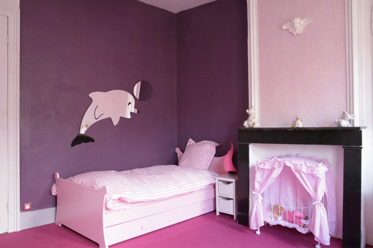 Miroir décoratif dauphin